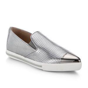 Miu miu | metal cap toe slip on sneakers